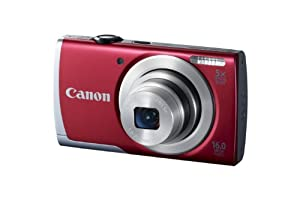 PowerShot A2500 16.0 MP Digital Camera with 5x Optical Zoom and 720p HD Video Recording (Red)