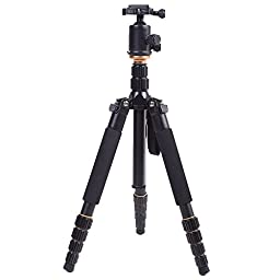 tripod - QZSD Q666 Pro SLR camera tripod ball head monopod Changeable Portable Compact Travel