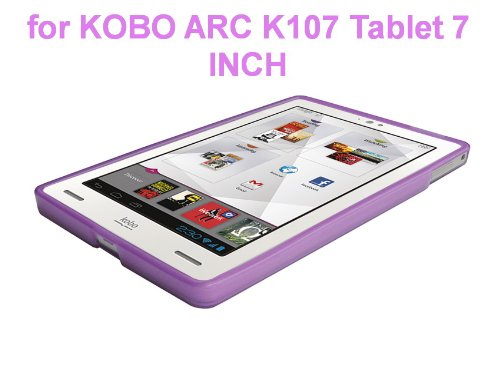 """Kobo Arc 7"""" eReader Tablet TPU Rubberized Protective Cover Case - Purple at Electronic-Readers.com"""