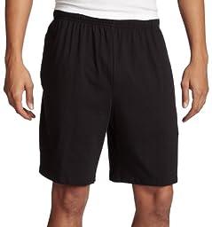 Soffe Men\'s Classic 100% Cotton Pocket Short Black Large