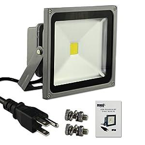 Escolite Spotlights Security Light Led Flood Light White 30w IP65 Waterproof