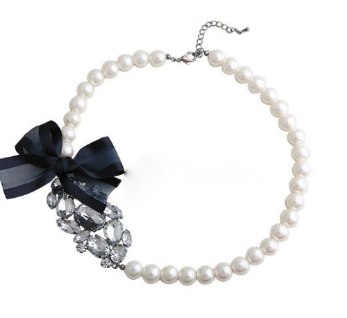 Princess Pearls and Crystals Necklace