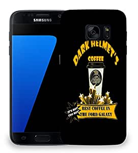 Snoogg Dark Helmets Coffee Designer Protective Back Case Cover For SAMSAMSUNG S7