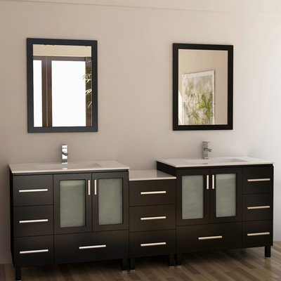 Design Element Dec360-Ds Galatian 88-Inch Double Sink Vanity Set