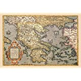 "Paper poster printed on 12"" x 18"" stock. Map of Greece"