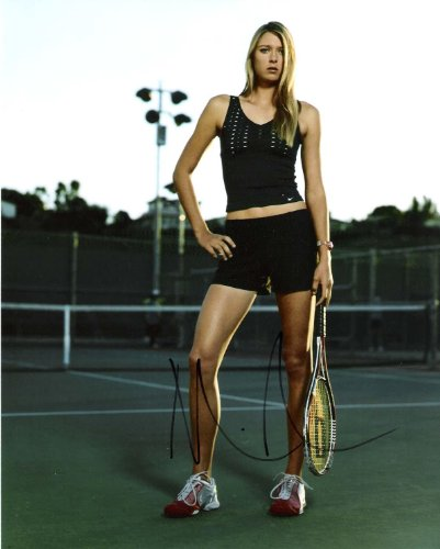 Signed Maria Sharapova Picture - WOW! RUSSIAN PRO PLAYER 8x10 Color - Autographed Tennis Photos