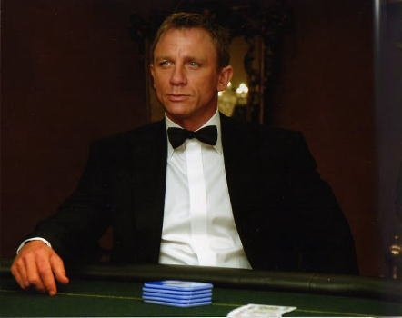 ブロマイド写真★映画『007カジノ・ロワイヤル』ダニエル・クレイグ/テーブル