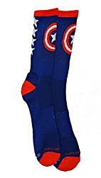 Marvel Comics Captain America Performance Men's Crew Socks