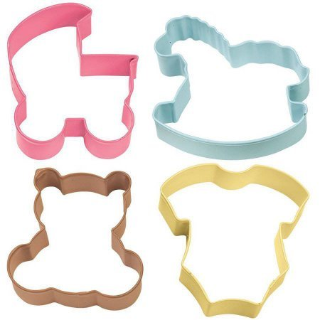 Metal Cookie Cutter Set, Baby Theme 4 ct (Sheriffs Badge Cookie Cutter compare prices)
