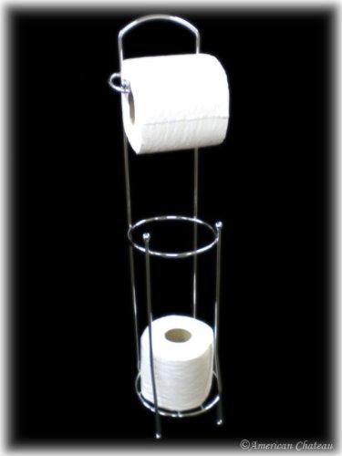 Floor chrome toilet paper holder storage stand - Toilet paper holder floor stand ...