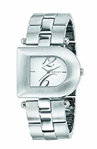 DKNY NY4353 Stainless Steel  Bracelet Watch With 'D' Detail  Silver Dial