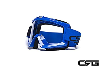 CRG Sports Motocross ATV Dirt Bike Off Road Racing Goggles BLUE T815-67-3 T815-67-3 - Parent