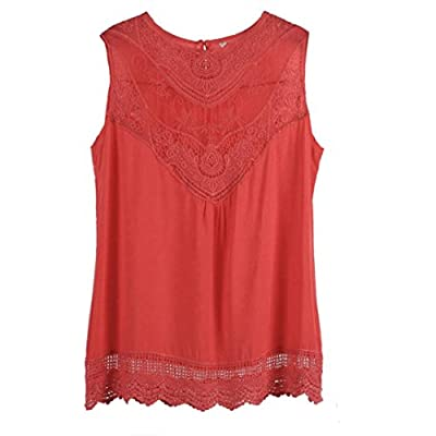 Susenstone Women Summer Vest Top Sleeveless Blouse Casual Tank Tops Shirt Lace