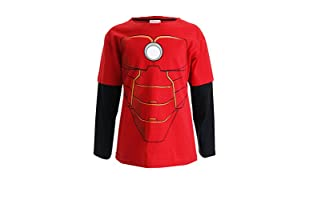 MARVEL Camiseta Manga Larga Iron Man Costume (Rojo / Negro)