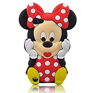 Global Ipod Touch 5 Red Lovely Minnie Silicone Case Cover for Apple iPod Touch 5th Generation