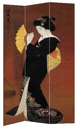 Big Huge Extra Large Japanese Art Print - 6 ft. Japanese Ladies Geisha Image Painting Canvas Room Divider Folding Screen