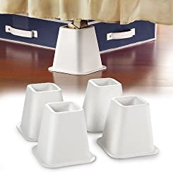 Kennedy Home Collection 2997 Bed Raiser Set 4 Count White