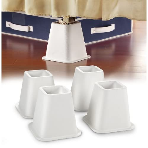 Kennedy Home Collection 2997 Bed Raiser Set, 4 Count, White,Kennedy International,2997
