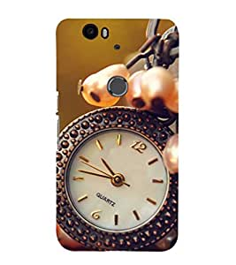 Fuson Premium Back Case Cover Watch With Multi Background Degined For Huawei Google Nexus 6P