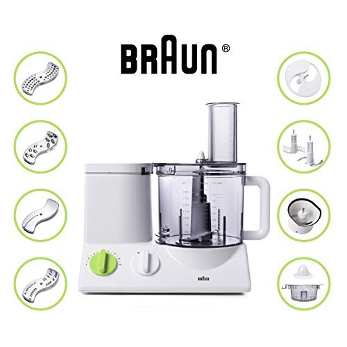 Braun FP3020 Food Processor with 7 Attachment Blades, Chopper and Citrus Juicer (Pasteles Machine compare prices)