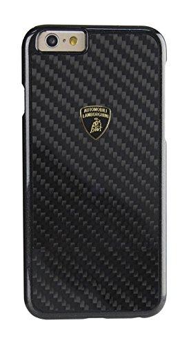 エアージェイ ランボルギーニ(Lamborghini) 公式ライセンス品 iPhone6S/6専用 リアルカーボンバックカバー ブラック LB-HCIP6-EL/D2-BK