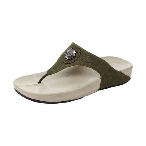 Liberty Gliders Women Slippers Thongs OLIVE GREEN
