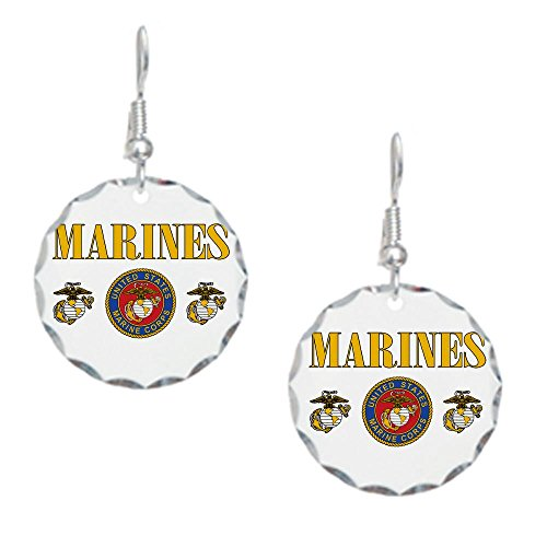 Earring Circle Charm Marines Us Marine Corps Seal