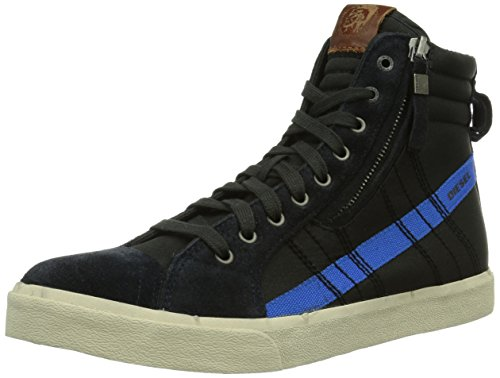 Diesel DVELOWS DSTRING, Sneaker alta Uomo, Nero (Schwarz (H5478)), 41