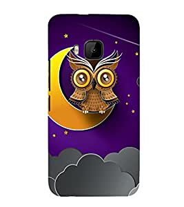 Clipart Owl Wallpaper 3D Hard Polycarbonate Designer Back Case Cover for HTC One M9 :: HTC M9 :: HTC One Hima