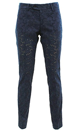 Roy rogers Roxane nycBLU Roy Roger's Pantalone in sangallo Blu 29 Donna