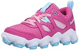 Reebok ATV19 Turbo Running Shoe (Little Kid/Big Kid), Charged Pink/Cool Breeze/White/Light Pink, 2 M US Little Kid
