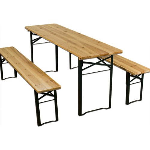 Comparamus Ensemble Table Bancs Bois Pliant Meuble De