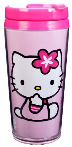Insulated Hello Kitty 14 Oz Travel Tumbler Cup front-729757