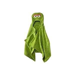 Sesame Street Hooded Towel - Oscar