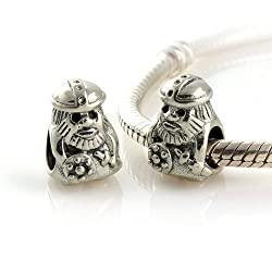 925 Sterling Silver European Style Antique Silver Viking Charms/beads for Pandora Biagi Chamilia Troll and More Bracelets
