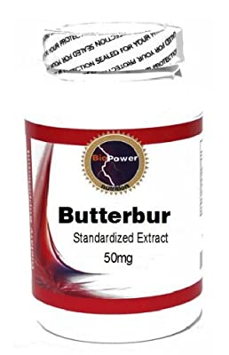 Butterbur Standardized Extract 50mg 90 Capsules # BioPower Nutrition