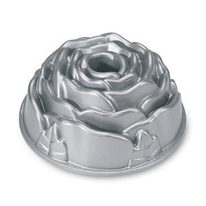 Nordic Ware Platinum Rose Cast Aluminum Bundt Pan by Nordic Ware