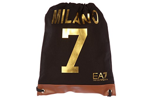Emporio Armani EA7 zaino borsa donna originale milan varsity nero