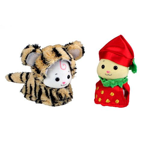Zhu Zhu Babies Adorable Baby Outfits 2Pack Tiger Strawberry