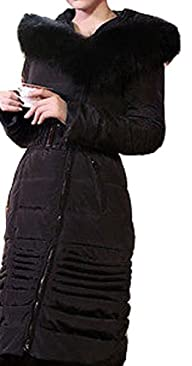 Women's Warm Luxury Fur Hoodie Parka…