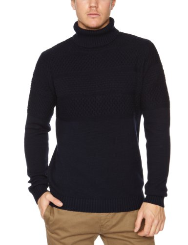 Selected Homme Mass Roll Neck T Men's Jumper Maritime Navy Small