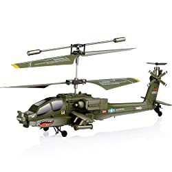 [Best price] Grown-Up Toys - Syma S109G Apache AH-64 3.5-Channels Mini Indoor Helicopter - toys-games