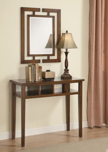 Cheap Brown Contemporary Console Table & Mirror & Lamp (B003XRA23C)
