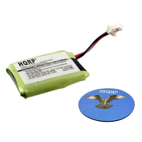 Hqrp 140Mah Battery For Plantronics Cs530 Cs540 Cs540A Wireless Headset 84479-01 86180-01 Savi Cs540 + Hqrp Coaster