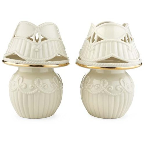 Lenox Great Giftables Carved Tealight Lamps, Set Of 2