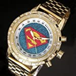 Superman Pattern Gold Silver Luxury M...