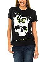 883 Police Camiseta Manga Corta Butterfly On Skull (Negro)