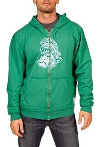 NCAA Michigan State Spartans Zip Hoodie Mens by Original Retro Brand