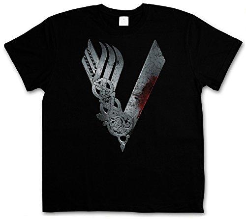 VIKINGS LOGO CELTIC T-SHIRT - TV Series Yggdrasil Ragnar norvegese Ragnarök Thor Vikings T-Shirt Taglie S - 5XL