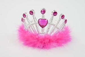 Lucy Locket Girls Crown Jewel Tiara - Hot Pink